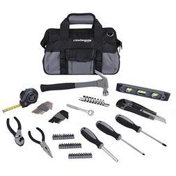 AmazonBasics 65-Piece Home Repair Kit, Basic Tool Set for Ho
