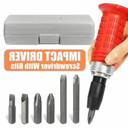 Impact Screwdriver Driver Set Carbon Steel Multi Bits Hammer