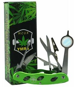 KUSH ARMY KNIFE All In One Multi Tool - For Smokers -Tobacco