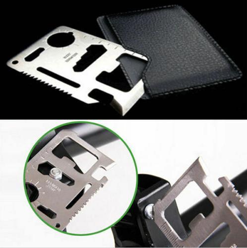 Credit Card 1 Free Multi Tool thin pocket survival micro knife Lot