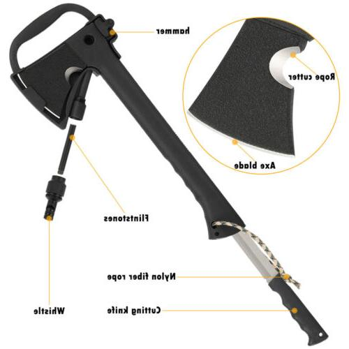 Multi-Tool Axe Cutting Outdoor Survival Hammer