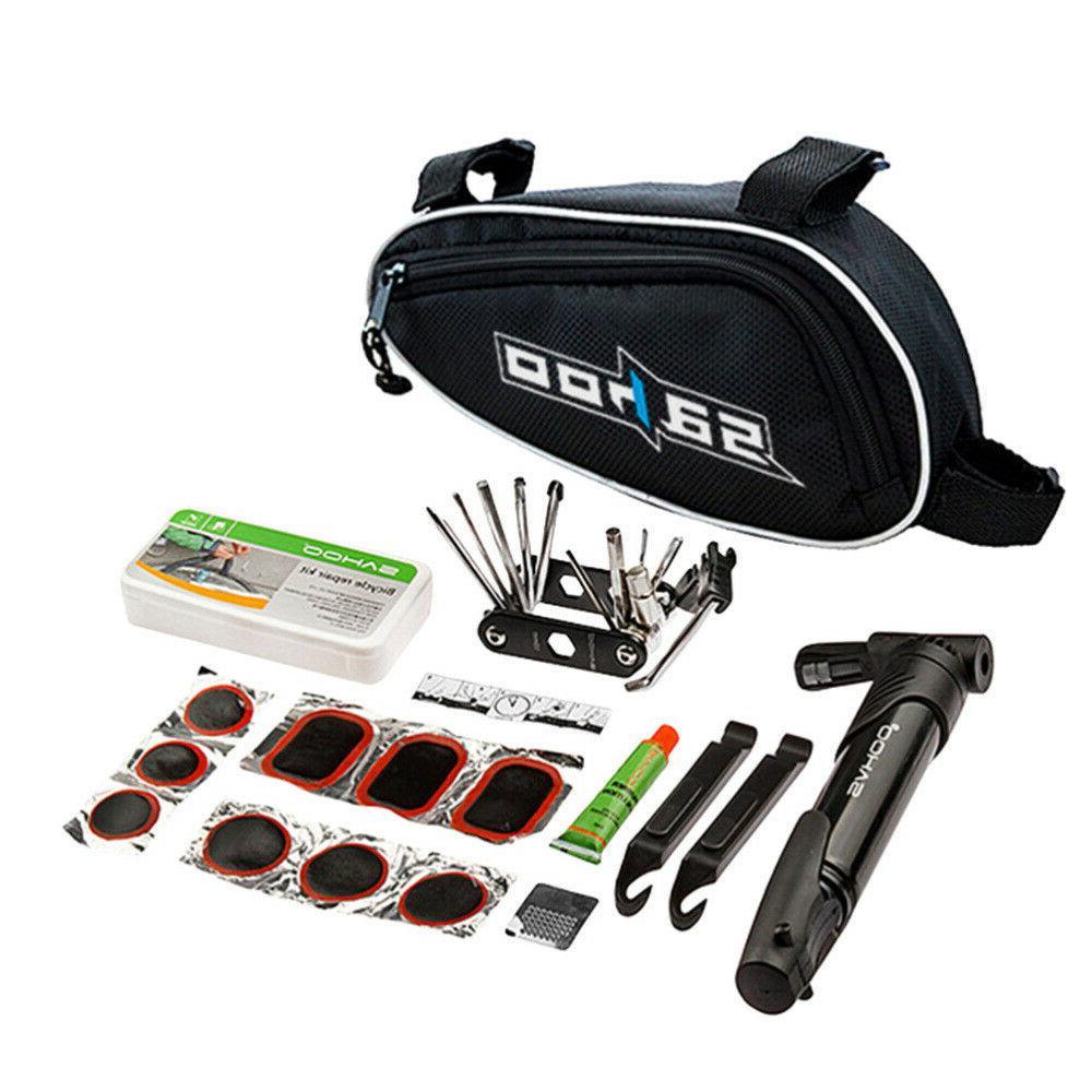 Multi-use Bicycle Tire Tyre Repair Tools Kit Bag