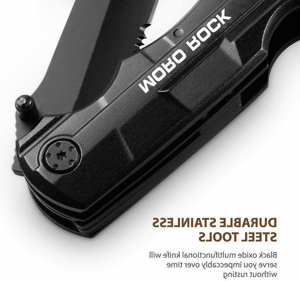 "7.5"" Pocket Knife Multi Purpose Multi tool Tactical Camping Folding"