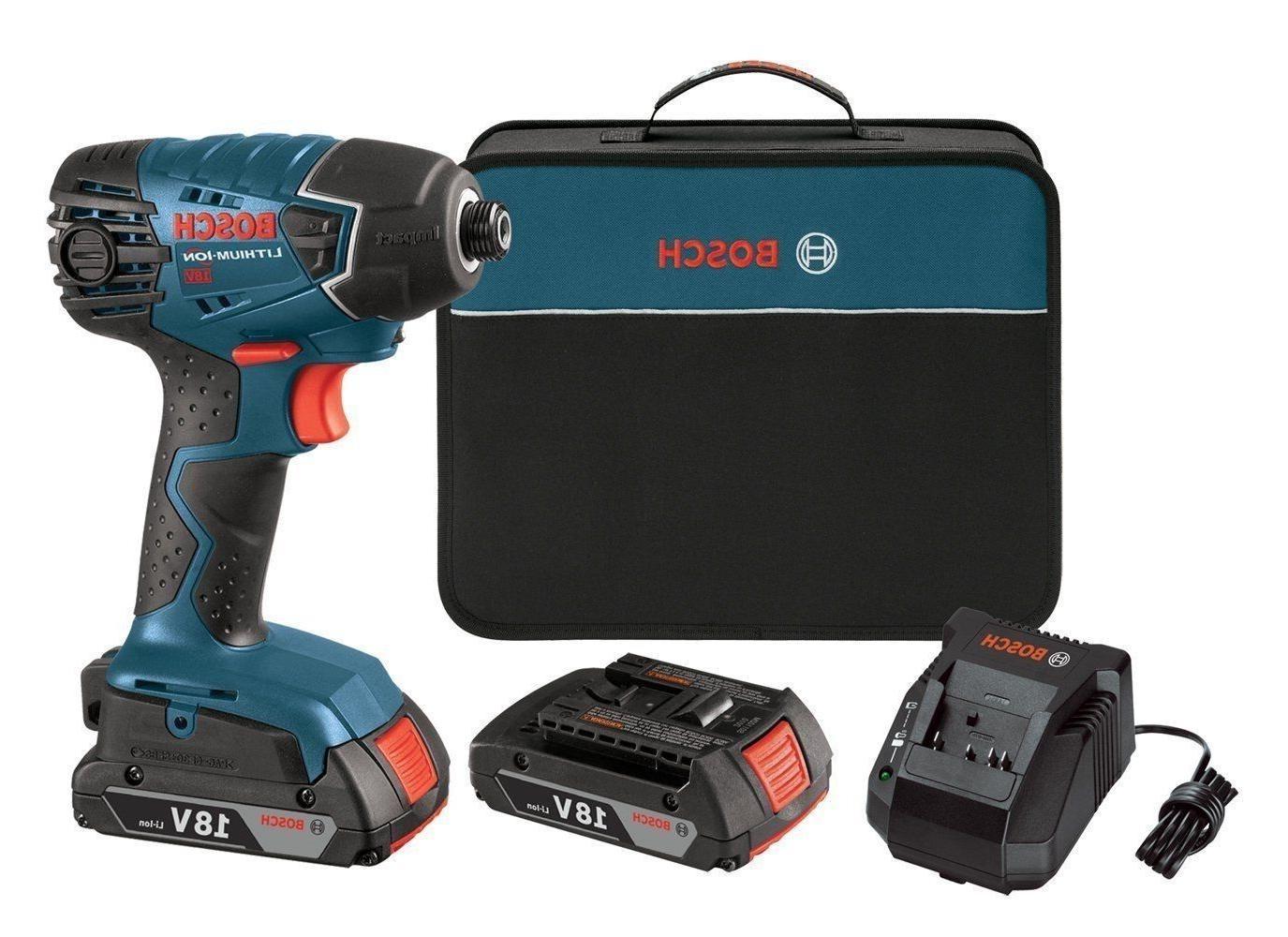 "Bosch 25618-02 18V Lithium-ion 1/4"" Hex Impact Driver Kit NE"