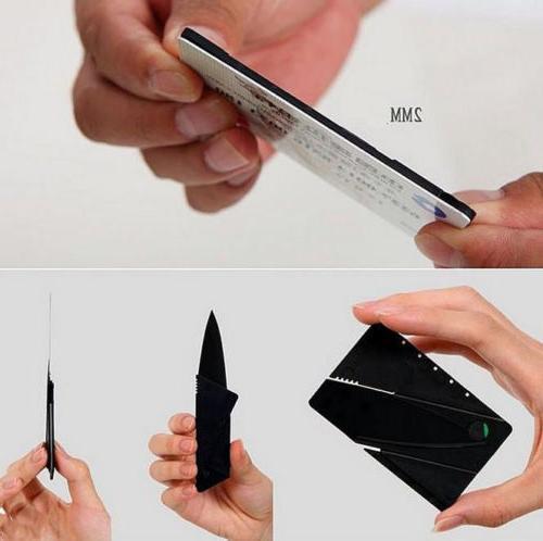 Credit Knives in Multi 3 wallet pocket survival