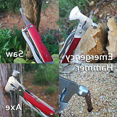 ROSE Multitool Tool Axe Plier Wooden Handle