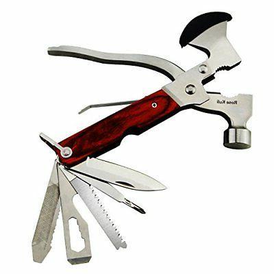 ROSE KULI Multitool Multi Tool Folding Army Knife Axe Hammer