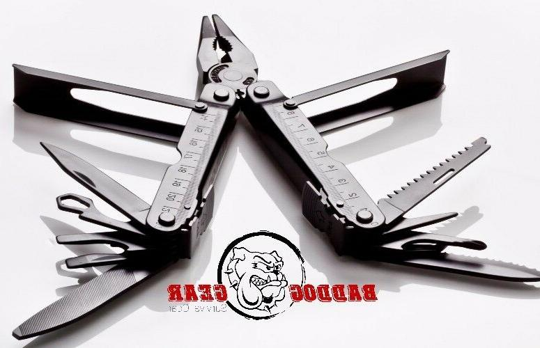 black full size multi tool w nylon
