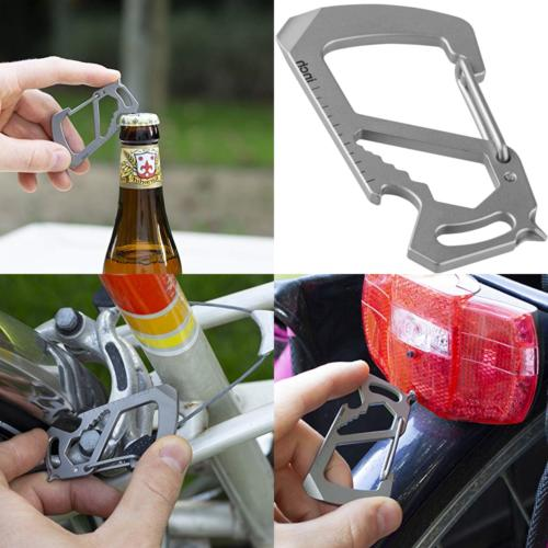 carabiner keychain multitool titanium strong and lightweight