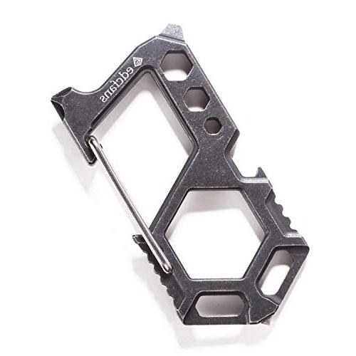 carabiner keychain stainless steel multitool