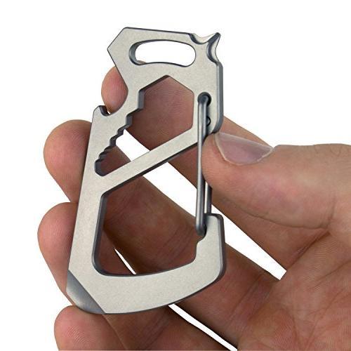 Northwall Carabiner Keychain Titanium 12 Multi