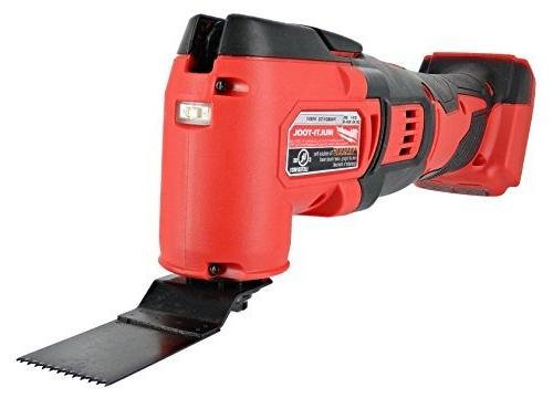 Milwaukee 2626-20 Lithium Ion 18,000 OPM Orbiting Tool with Woodcutting and Sanding with Included