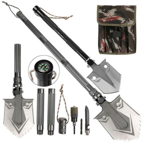 military folding survival shovel heavy duty carbon
