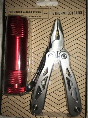 multi tool and flashlight 12 in 1