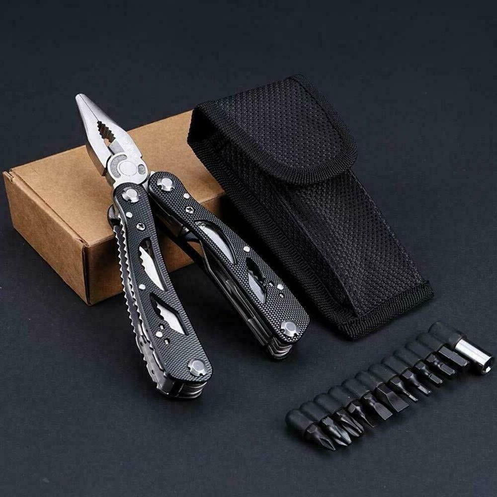 Multi Tool Knife Saw Kit Folding Multitool Screwdriver Bits Set