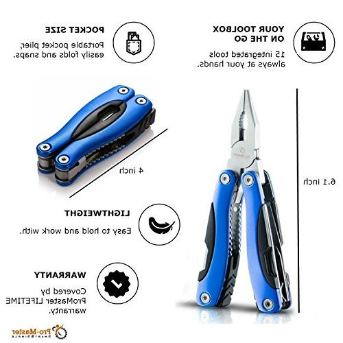BEST Knife. 15 in 1 Multifunctional Multi Tool. Saw, Cutter, Sheath. Multipurpose, Fishing, Hunting, Set. Life