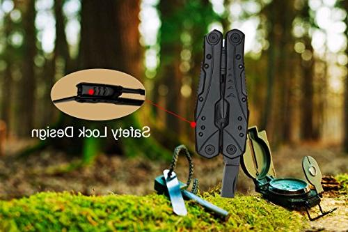 Multitool Pliers Newild Set with Starter Nylon Sheath Black Hardened 420 for Survival,Camping,Fishing,Hunting,Hiking
