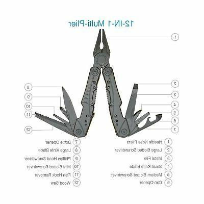 Multitool Newild 12-in-1 Multi Pocket tool Set with Knife Fire...