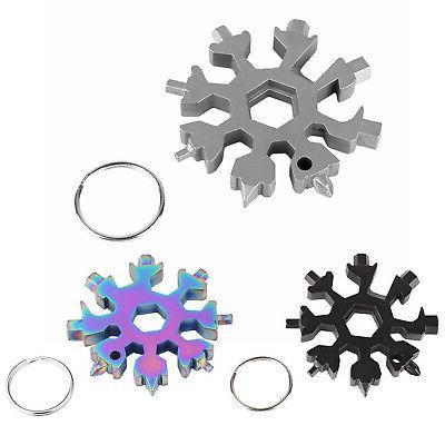 Snowflake Shape Multi Tool Snow Flake 18-1 Steel Flat Cross
