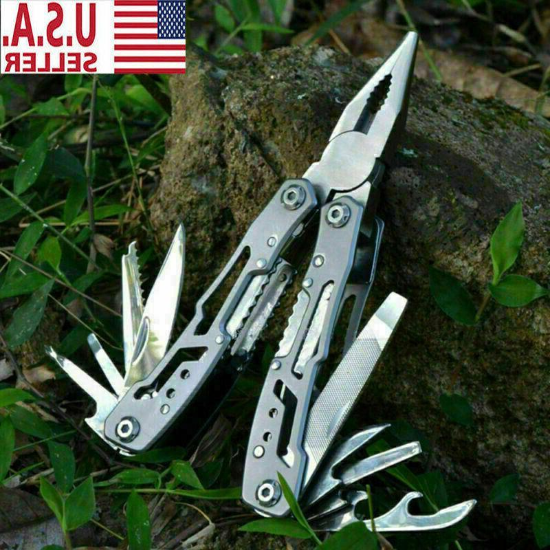 outdoor survival plier fold pocket screwdriver multi