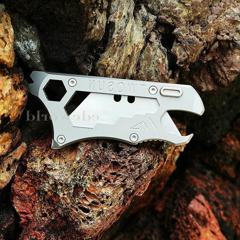 Outdoor Titanium TC4 Multi Tools Knife Keychain