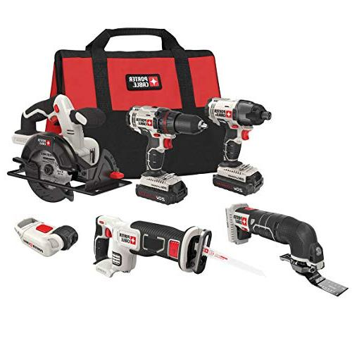 PORTER-CABLE PCCK6116 20V MAX Lithium Ion 6-Tool Combo Kit