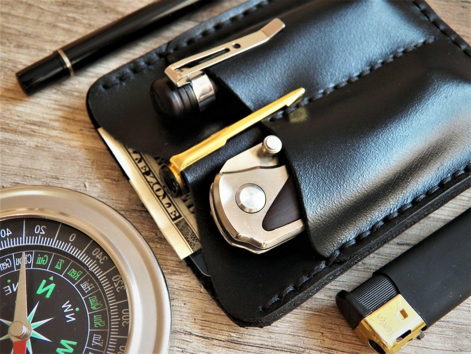 pocket organiser leather wallet Leatherman