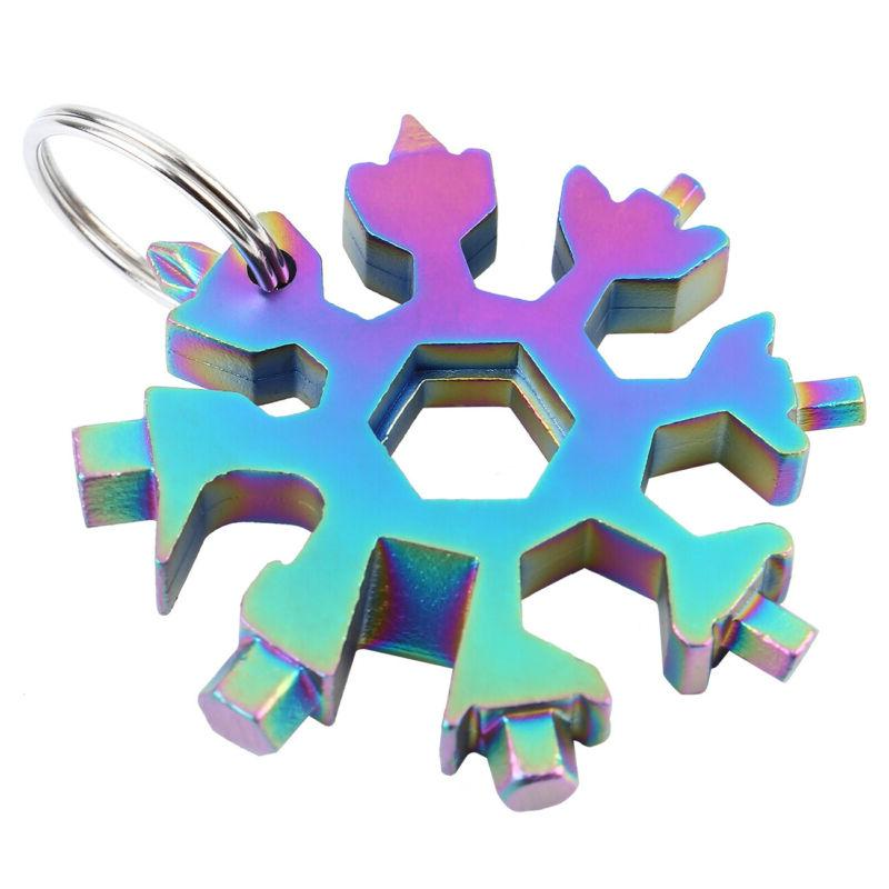 Portable Combination Stainless Snowflake Design Card
