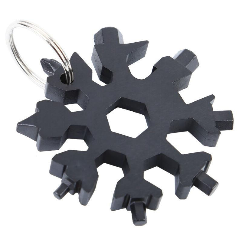 Portable In Combination Snowflake Design Card Tools