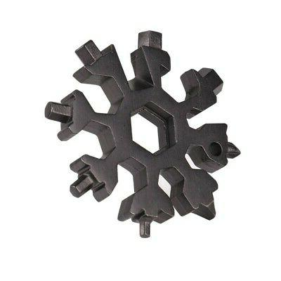 Portable 18-in-1 Combination Compact Portable Outdoor Snowflake Tool