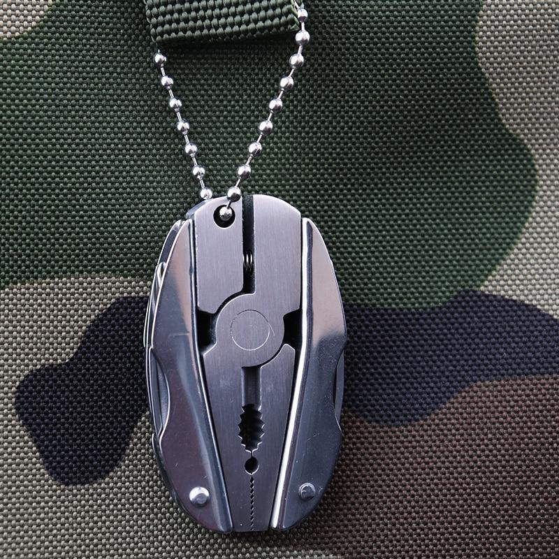 Portable Multifunction Plier Stainless Steel Foldaway <font><b>Knife</b></font> Keychain EDC Tools