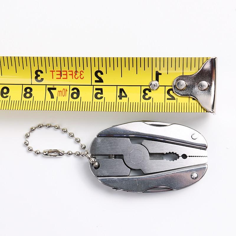Portable Multifunction Folding Plier Stainless Keychain <font><b>Screwdriver</b></font> EDC Travel