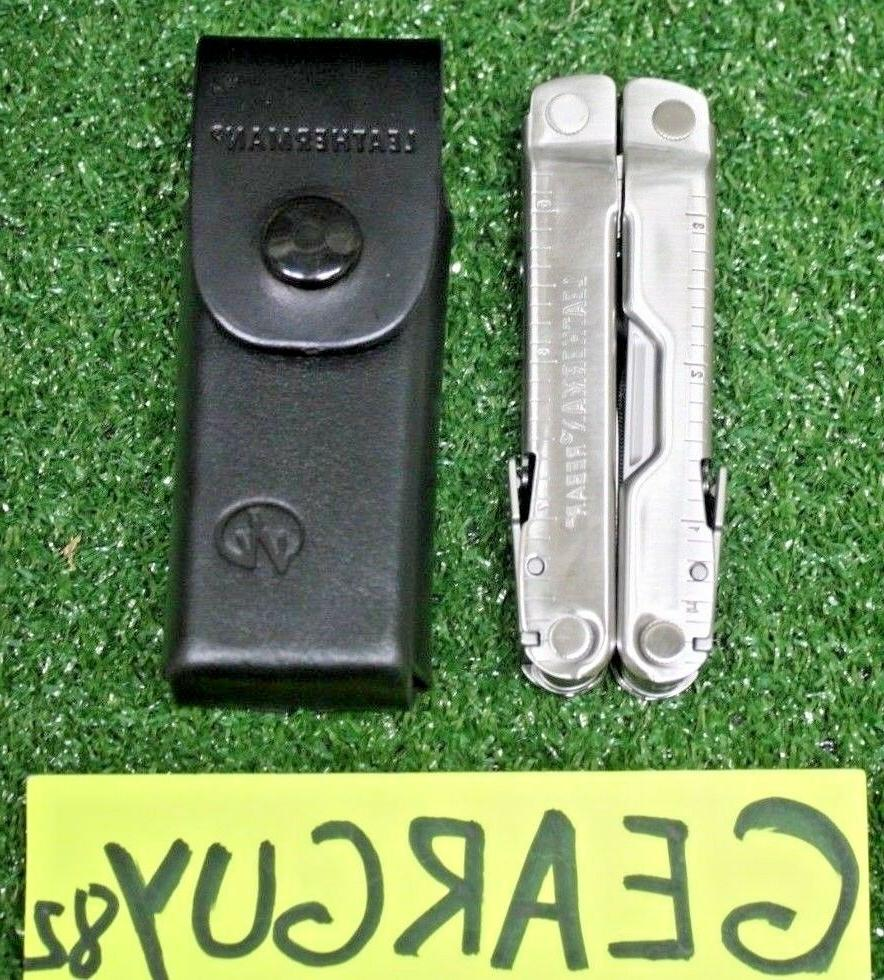 rebar stainless steel multi tool with leather