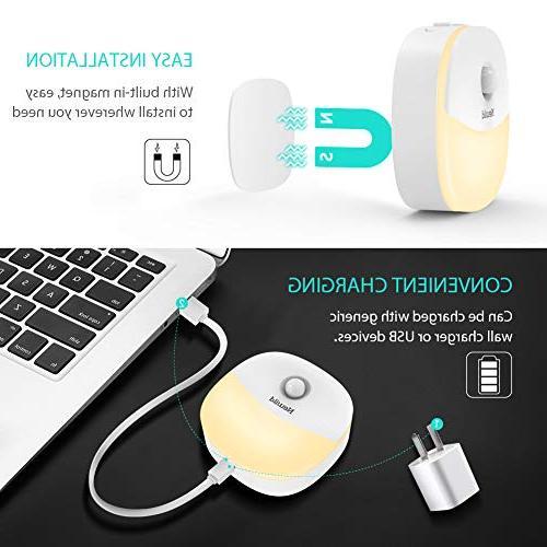 Newild Light Adjustable White for Motion Sensor Hallway, Kitchen, Bathroom, Bedroom, Li-Polymer