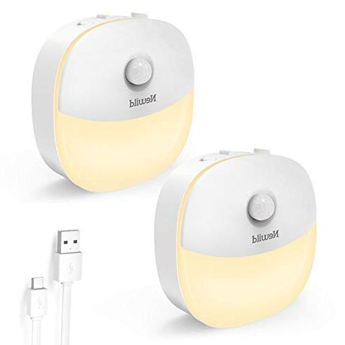 rechargeable night light adjustable brightness