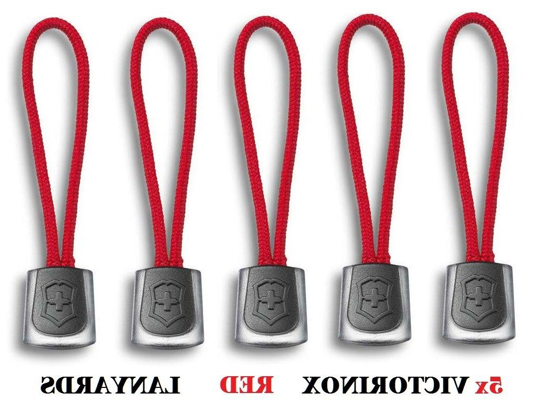 🌟🌟🌟 SET OF 5 VICTORINOX SWISS ARMY KNIFE RED LANYAR