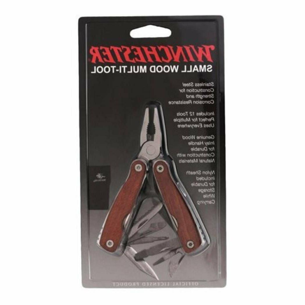 small wood handle multi tool 10 tools
