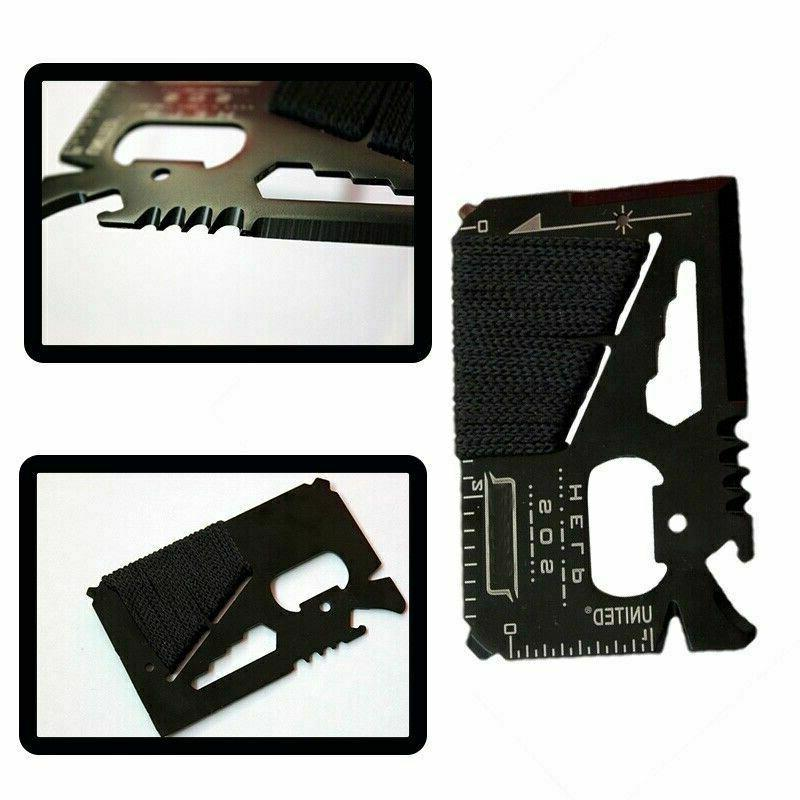 Stainless Credit Tool in Multi Pocket Survival Tools