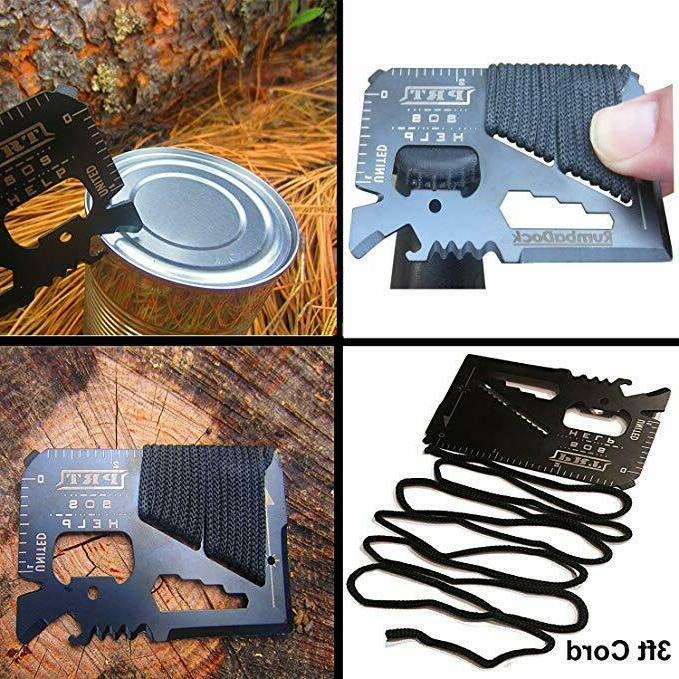 Stainless Steel Credit Card Tool 14 in 1 Multi Survival Camping