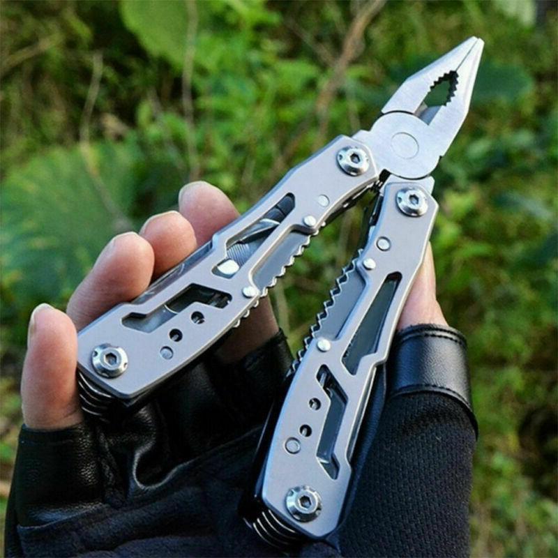 Survival Plier Fold Pocket Screwdriver Multi Outdoor Knives