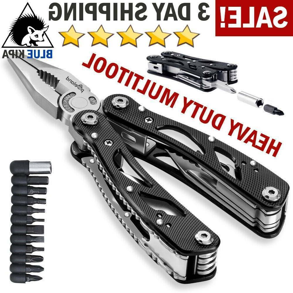 survival plier fold pocket screwdriver multi tool
