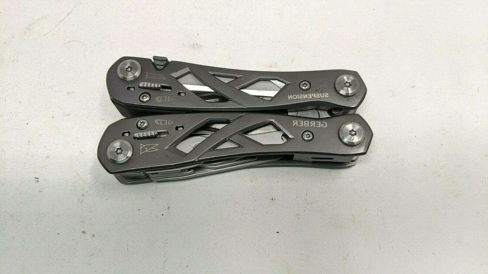 Gerber Suspension Multi Tool Pliers Cutters 12 in 1 Gray
