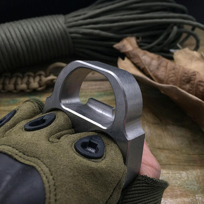 TC4 Titanium EDC TOOLs Finger Knuckle Opener Defens