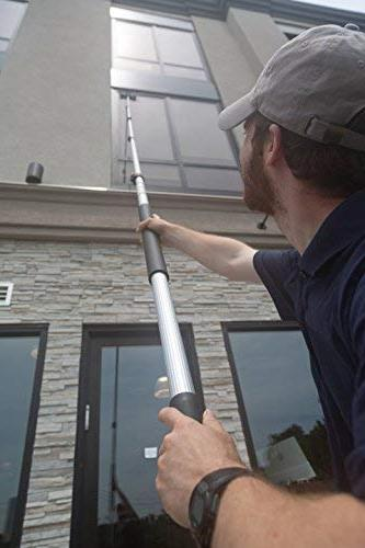 6-24 Extension Pole by Miloo | Cleaning, Paint Extender, Duster Pole, Hanging Lights, Gutter Bulb Changing