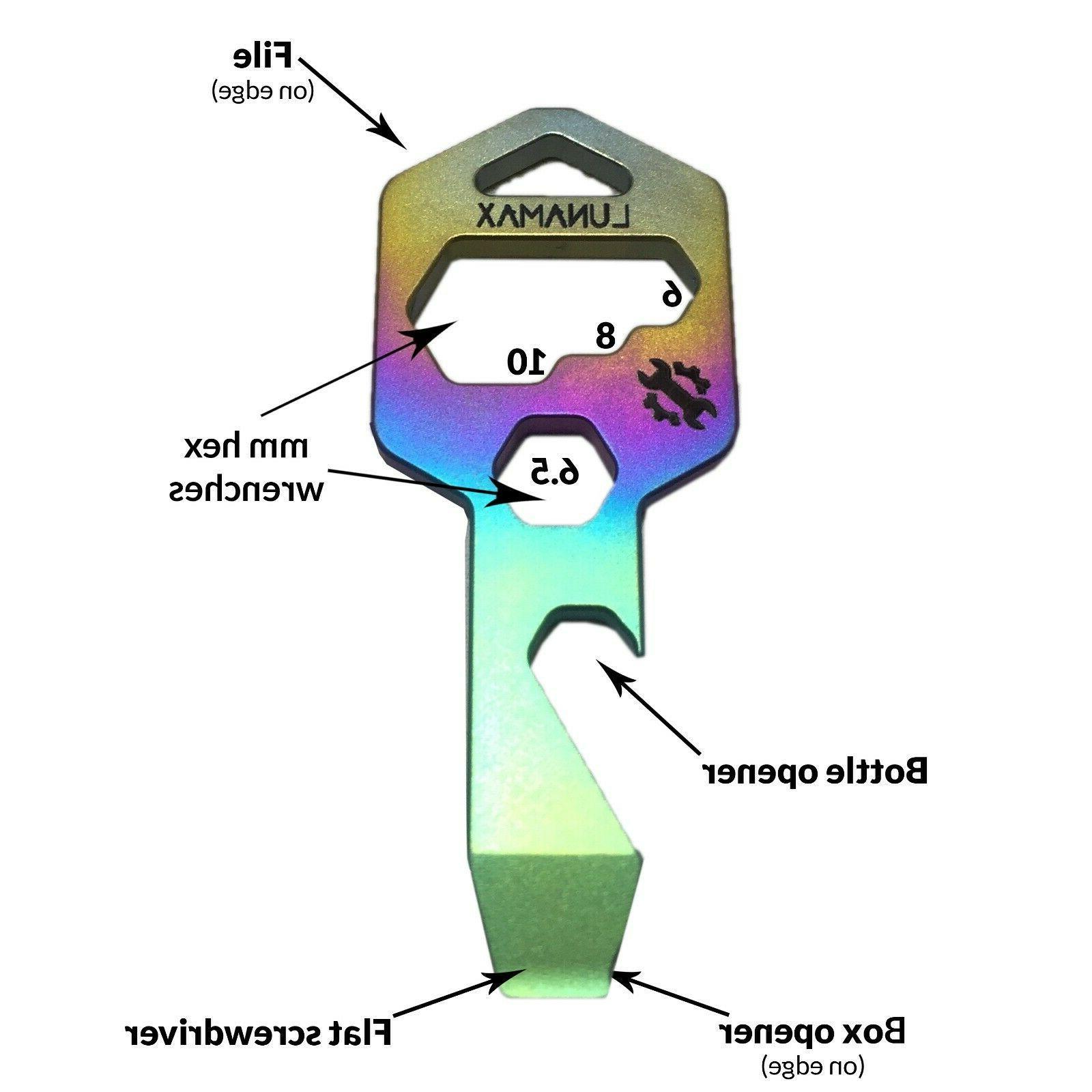 titanium 8 in 1 keychain multi tool