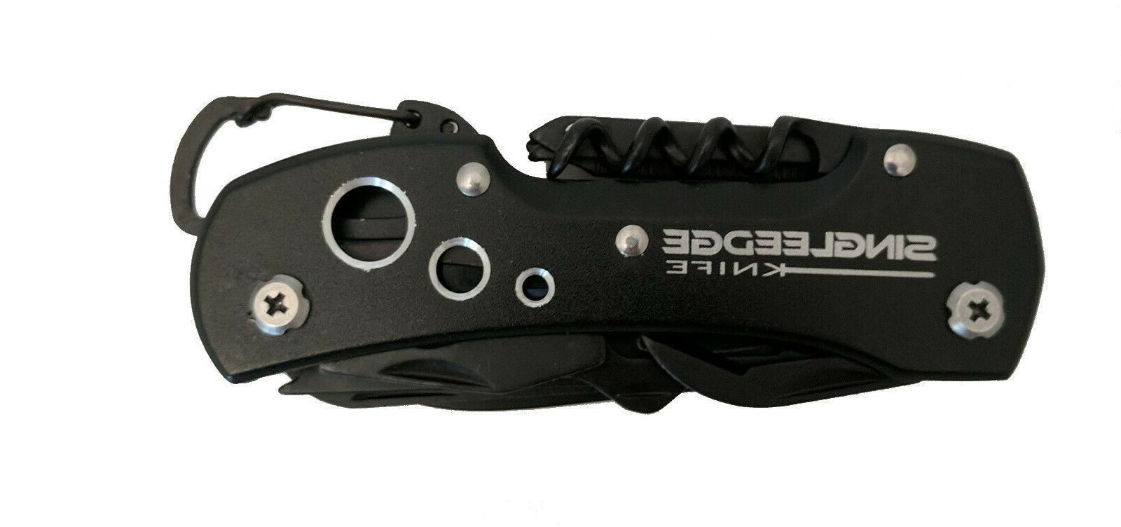 Titanium Black Style Pocket Knife By SingleEdge - 14 Tool Uses