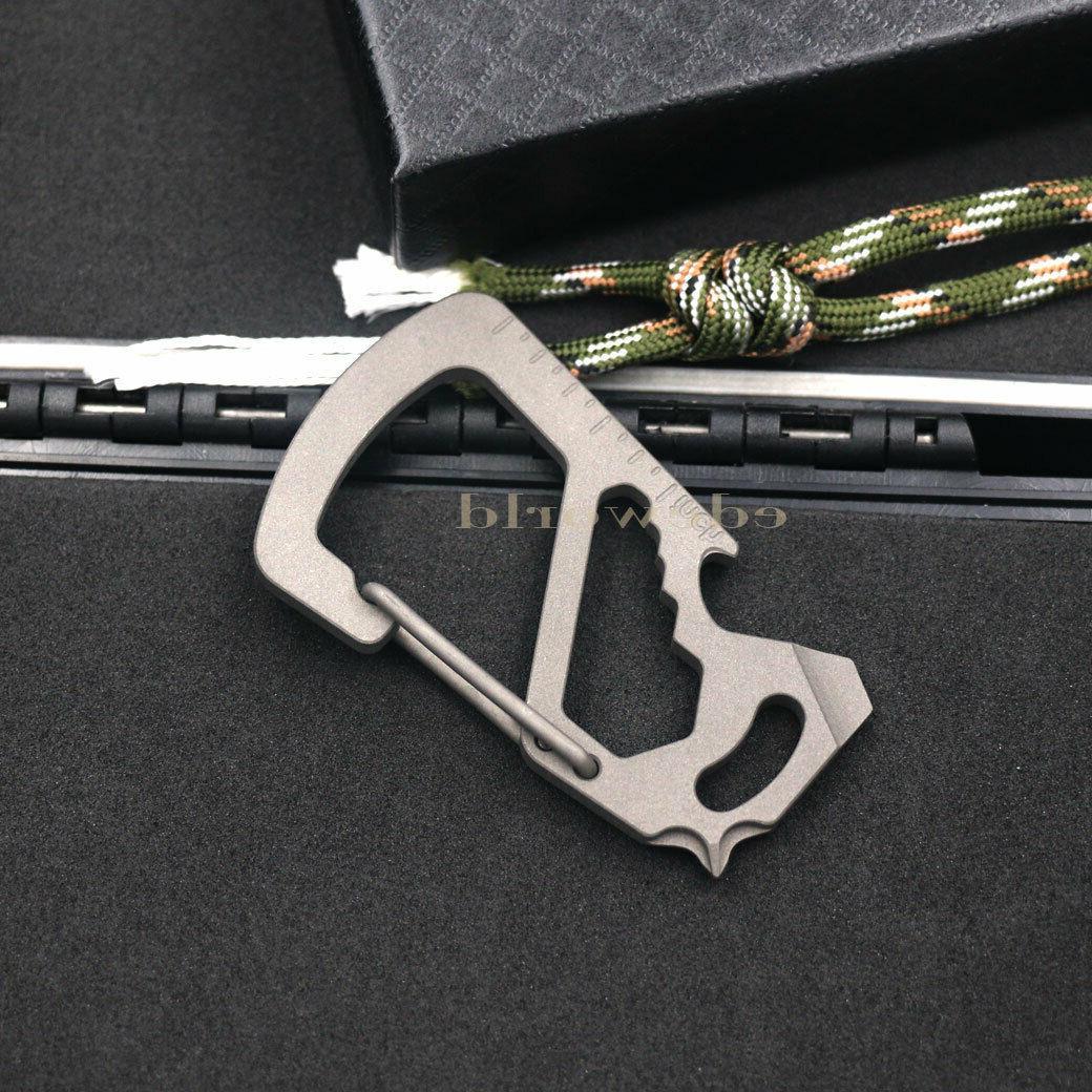 titanium tc4 multi edc key chain carabiner