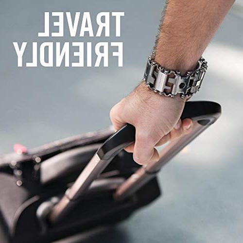 LEATHERMAN - Tread Bracelet, The Smaller Travel Friendly Multitool, Steel