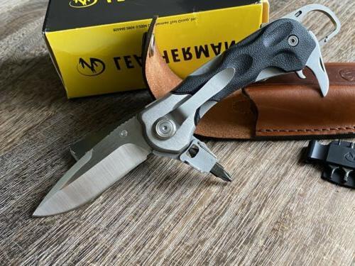 Vintage Leatherman K502X Knife multitool; Collectible, 154CM, Sheath
