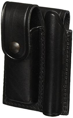 Leather Belt Holster for Mini Mag-Lite AA Flashlight and Fol